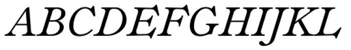 Fitzronald Italic Font UPPERCASE