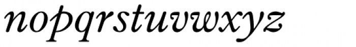 Fitzronald Italic Font LOWERCASE
