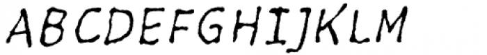Five Minutes 300 Italic Font UPPERCASE