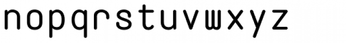 Fixed Rounded Font LOWERCASE