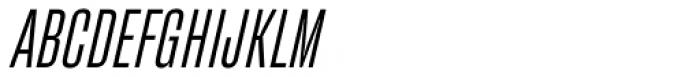 Fixture Italic Condensed Light Font UPPERCASE