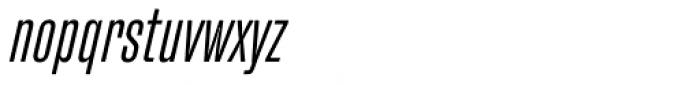 Fixture Italic Condensed Light Font LOWERCASE