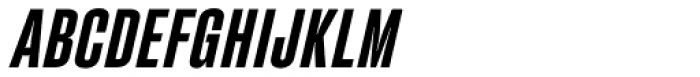 Fixture Italic Condensed Semi Bold Font UPPERCASE