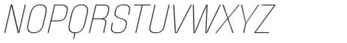 Fixture Italic Thin Font UPPERCASE