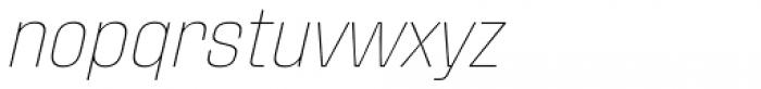 Fixture Italic Thin Font LOWERCASE