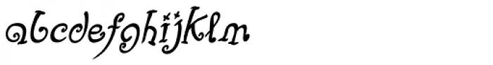 Fizgiger Alternate Bold Oblique Font LOWERCASE