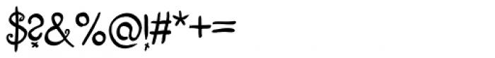 Fizgiger Alternate Bold Font OTHER CHARS