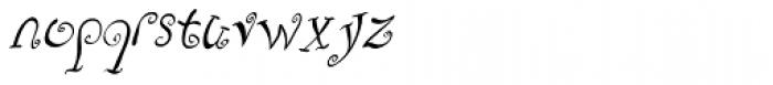Fizgiger Oblique Font LOWERCASE