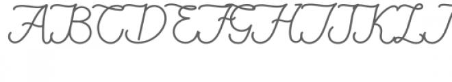FionaLattina Font UPPERCASE