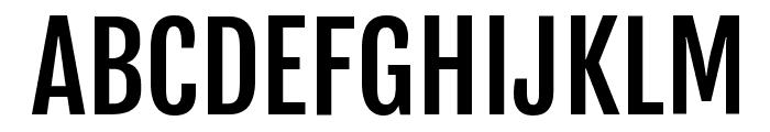 Fjalla One Font UPPERCASE