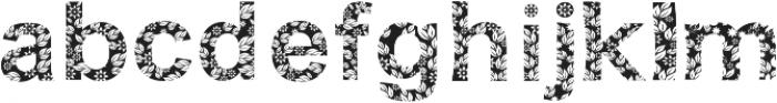 FLORA ttf (400) Font LOWERCASE