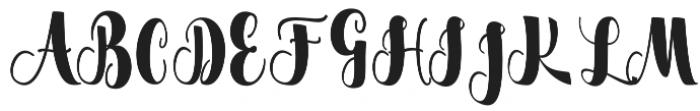 Flacacher otf (400) Font UPPERCASE