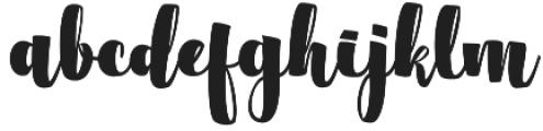 Flacacher otf (400) Font LOWERCASE