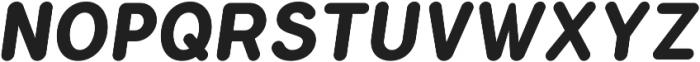 Flamante Round Bold Italic otf (700) Font UPPERCASE
