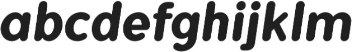 Flamante Round Bold Italic otf (700) Font LOWERCASE