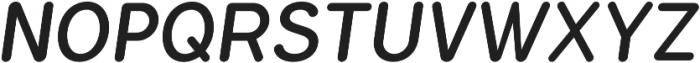 Flamante Round Book Italic otf (400) Font UPPERCASE