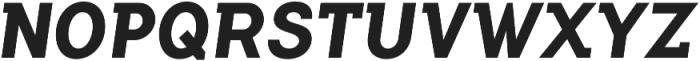 Flamante SemiSlab Bold Italic otf (700) Font UPPERCASE