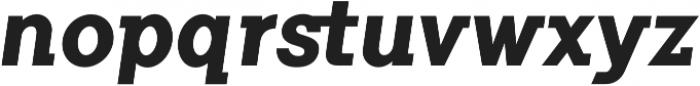Flamante SemiSlab Bold Italic otf (700) Font LOWERCASE
