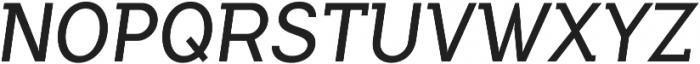 Flamante SemiSlab Light Italic otf (300) Font UPPERCASE