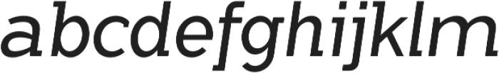 Flamante SemiSlab Light Italic otf (300) Font LOWERCASE