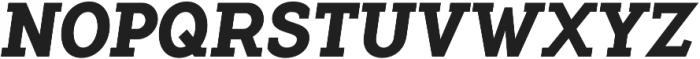 Flamante Serif Bold Italic otf (700) Font UPPERCASE