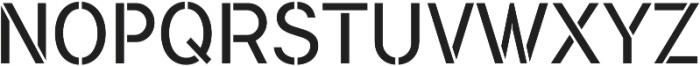 Flamante Stencil Light otf (300) Font UPPERCASE