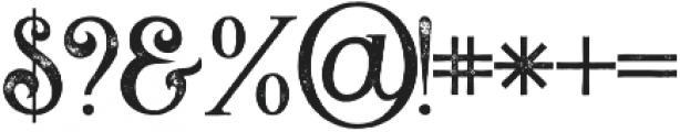 Flamingo grunge otf (400) Font OTHER CHARS