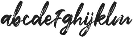 Flashing otf (400) Font LOWERCASE