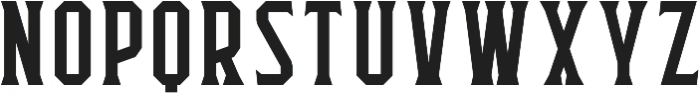 Flathead Serif Regular otf (400) Font UPPERCASE