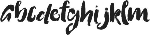Flattering otf (400) Font UPPERCASE