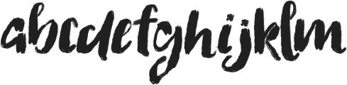 Flattering otf (400) Font LOWERCASE