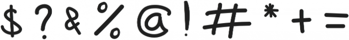 Flayuk Regular otf (400) Font OTHER CHARS