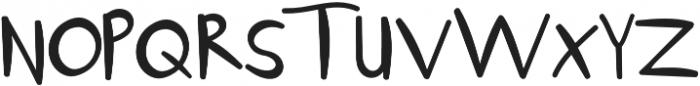 Flayuk Regular otf (400) Font UPPERCASE