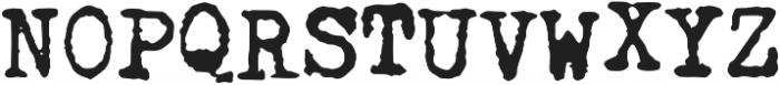 Fletcher Jumpy Typewriter otf (400) Font UPPERCASE