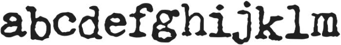Fletcher Jumpy Typewriter otf (400) Font LOWERCASE