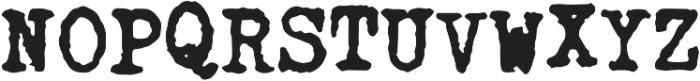 Fletcher Jumpy Typewriter otf (700) Font UPPERCASE