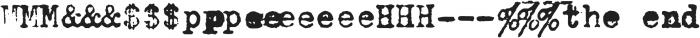 Fletcher Typewriter Extras otf (400) Font OTHER CHARS