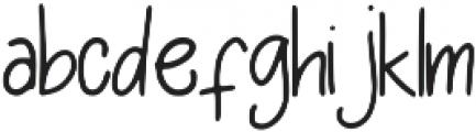 Flexy Font Regular otf (400) Font LOWERCASE