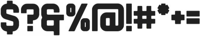 Flintstock Round otf (400) Font OTHER CHARS