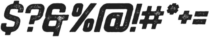 Flintstock Stamp Oblique otf (400) Font OTHER CHARS