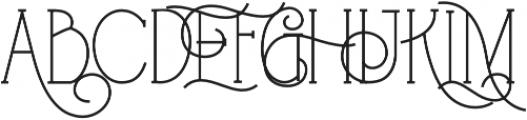 Floatwod Bold otf (700) Font UPPERCASE