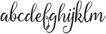 Florabella Regular otf (400) Font LOWERCASE