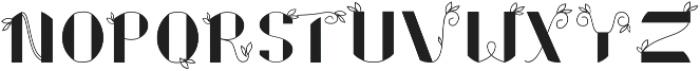 Floral Font ttf (400) Font UPPERCASE