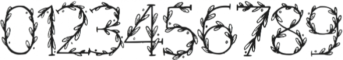 Floral Regular otf (400) Font OTHER CHARS