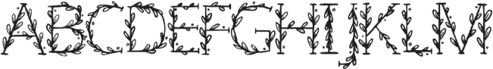 Floral Regular otf (400) Font LOWERCASE