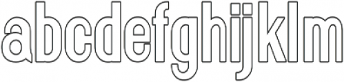 Florence Bold Condensed outline otf (700) Font LOWERCASE