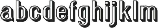 Florence Retro 3D otf (400) Font LOWERCASE