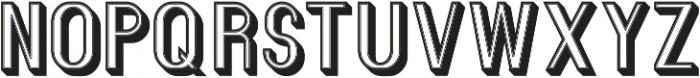 Florence Retro 3D ttf (400) Font UPPERCASE