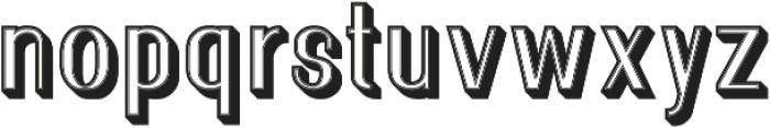 Florence Retro 3D ttf (400) Font LOWERCASE