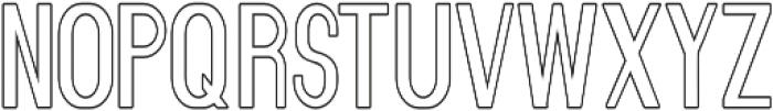 Florence Semi Bold Condensed outline otf (600) Font UPPERCASE